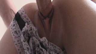 I forgot i wasn't suppose to let him cum in me. I'm such a slut, lol.  all internal point of view panties creampie amateur small tits butt petite panties to the side stockings doggystyle deep small girl big cock fat pussy bubble butt moaning