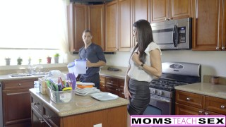 MomsTeachSex - Hot Step-Mom And Teen Get Messy Facial  big-cock eating-pussy threeway mom momsteachsex cumshot tiny-teen skinny caught facialized brunette reverse-cowgirl petite mother deepthroat small-tits step-mom