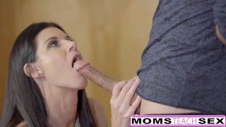 MomsTeachSex - Hot Step-Mom And Teen Get Messy Facial cumshot mother caught deepthroat facialized threeway brunette mom skinny momsteachsex petite