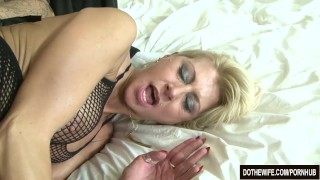 Blonde wife black cock in asshole  ass-fuck hardcore interracial cathy inez anal housewife creampie cuckold couple wife dothewife blonde