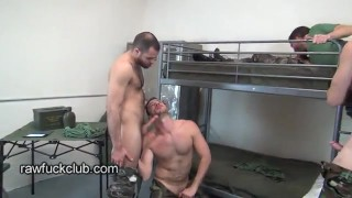 Barracks fucker bareback group bareback