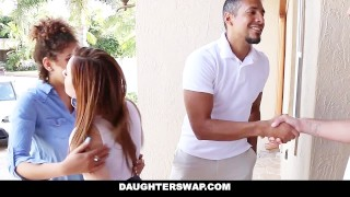 Preview 1 of DaughterSwap - Slutty Teens Fucked For Taking Nudes