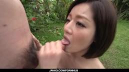 Dashing Asian woman, Minami Asano, full porn in outdoor