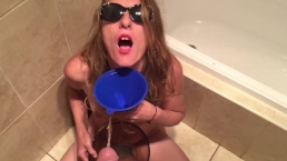 Piss swallow.funnel and bowl.