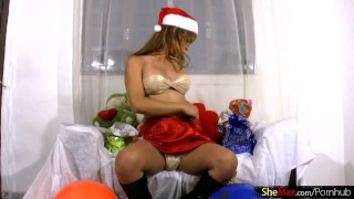 In cock tranny black teen whips boots out balls santa and shemax tranny