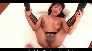 Busty Ladyboy Swallows Big Dick
