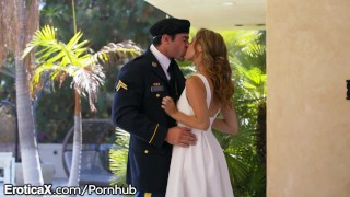 EroticaX Military Wife gets Her Creampie Fetish athletic