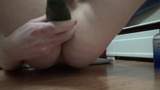 Young Straight Guy Fucks Huge Cucumber -- JohnnyIzFine Mother caning