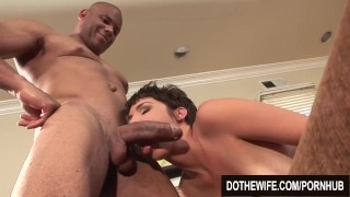 Hot wife extra fat black dick