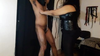 Ballbusting a helpless slut  kink ballbusting kick femdom ballbusting indian bondage indian femdom bbw femdom chubby