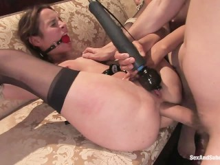 Sara Jessica Parker Nude Slave Wife Entertains The Guest, Brunette Fetish Pornstar Threesome Double