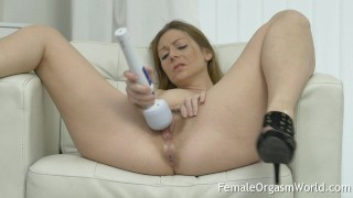 Mature MILF Masturbates Her Hairy Pussy to Orgasm