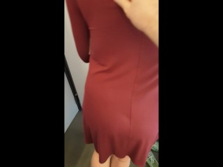 Accidental Creampie - 18yo Fucked for the First Time in a Dressing Room