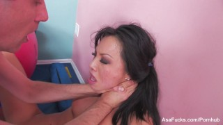 Asian pornstar Asa Akira gets an anal stretching  asian blowjob pornstar puba cumshot asaakira tattoo skinny ass-fuck hardcore rimming japanese brunette cowgirl fingering anal big-dick cum-in-mouth doggystyle