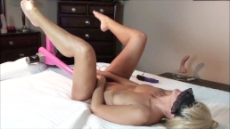 HOT AMATEUR WIFE FUCKS LOVE MACHINE LEGS UP MULTIPLE ORGASMS