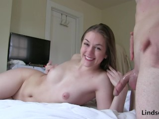 Passionate Blowjob and Creampie with LindseyLove