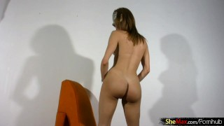 Big asshole tight ass fingering shemale and is spreading her pretty slim