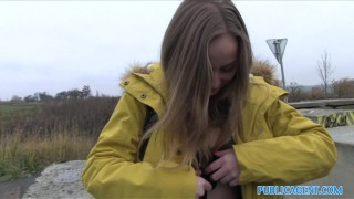 Public Agent Innocent Babe Paid for Sex  outdoors outside point-of-view sex-for-cash lady bug amateur cumshot public pov real camcorder sex-for-money reality publicagent sex-with-stranger sex-in-car