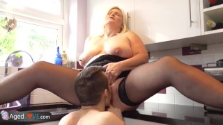 agedlove old mom mature bbw chubby hardcore blonde granny big boobs blowjob cock sucking cunnilingus fingering doggy style cowgirl