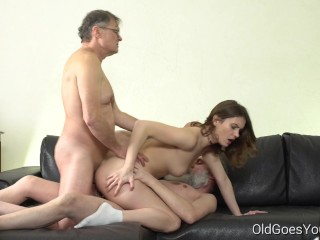 Allure Amateur Claudia Old Goes Young - Two old men talk babe