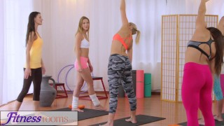 Fitness Rooms Hot yoga teachers strap on fuck tiny teen  keep fit gym-sex from-behind oral-sex lesbians fitness skinny sweaty young yoga-pants lycra workout czech teacher teenager adult toys tutor gym babes