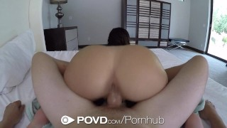 POVD - Gorgeous Leah Gotti fucked and facialed after shower Moaning blowjob