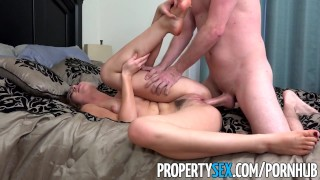 PropertySex - Hot young real estate agent really wants listing  point of view great sex real estate agent big cock blowjob propertysex missionary cowgirl brunette hottie orgasm facial doggystyle natural tits