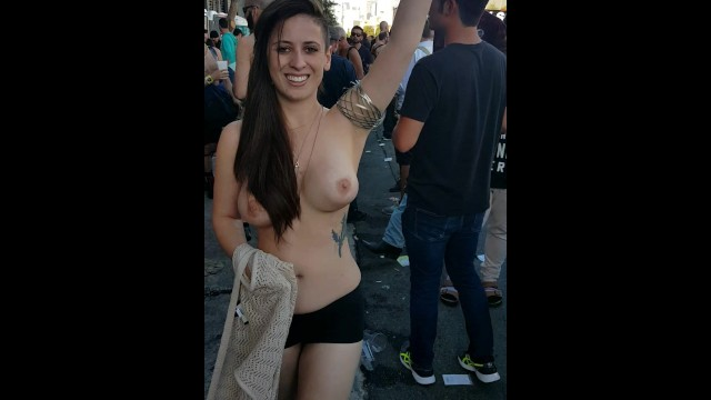 Going Topless In Public For My Husband Folsom St Fair -3780