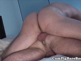 Mature bear barebacks tight bearded jock