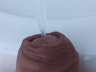 my dick pissing - close up view