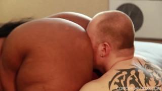 Sexy Exotic Ebony BBW Cotton Candi Dominates White Cuckold Butt butt