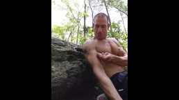 Public slamming naked in the woods