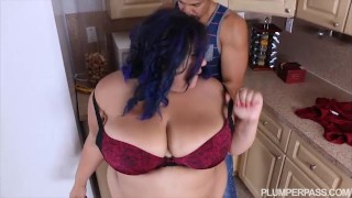 Calmed babe and by fucked bbw friend angry is purple riding