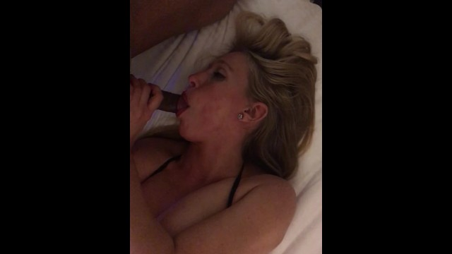 Tips for giving amazing blow jobs - Sexy blonde gives amazing blow job and swallow my cum