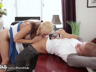 Double anal penetration blond
