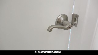 SisLovesMe - Creeping on StepSis In The Shower To Fuck Hard squirt