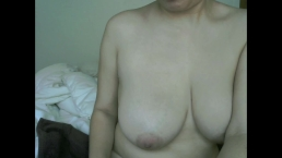 Woman with Big Tits Shaving Sweaty, Hairy Armpits