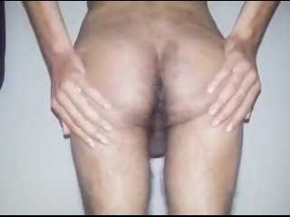 Teen sexy boy showing his asshole and slapping