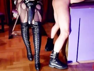 BDSM Room-rodder slave anal destruction