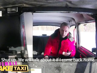 Preview 1 of Female Fake Taxi Sexy driver sucks and fucks fare to get even