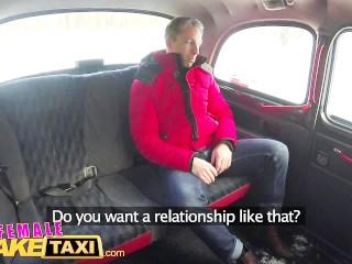 Preview 3 of Female Fake Taxi Sexy driver sucks and fucks fare to get even