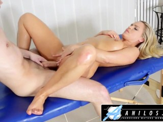 Anilos - Sexy Blondes Deep Pussy Massage