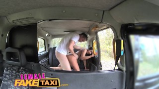 Female Fake Taxi Guy gets lucky with hot brunette  british oral blowjob amateur hot huge-cock public spycam car brunette reality butt dogging femalefaketaxi camera taxi