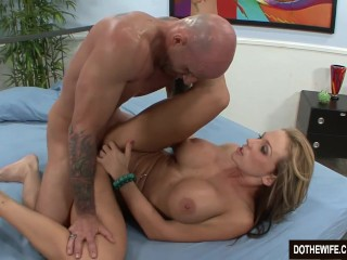 Blonde wife fucked and cum in mouth