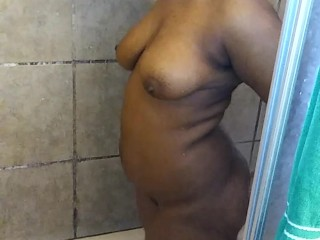 Babe Jumping In The Shower