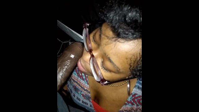 Look How She Drinks My Cum At The End!