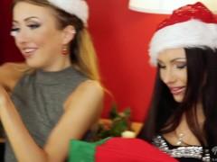 7 young naughty girls Lick and fuck Santa Claus!