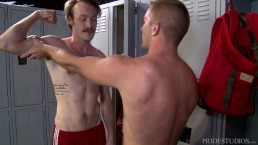 Big Cock Hookup in Locker Room