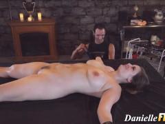 Sultry dark pantyhose fantasy scene
