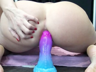 French Teen Love Anal Massive Creampie & Squirt - Anal et ejaculation